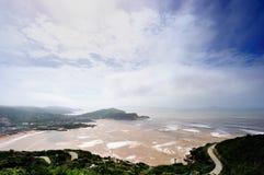 Ouragan de plage de bord de la mer Images stock