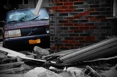 Ouragan de plage de débris d'île de lapin de New York arénacé photo stock