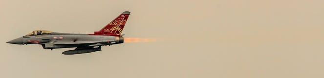 Ouragan de RAF Eurofighter photo stock