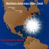 Ouragan du nord de l'Amérique illustration de vecteur