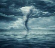 Ouragan en mer image libre de droits