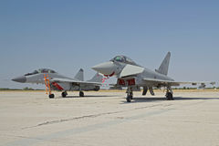 Ouragan et Mig-29 Images stock