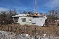 Ouragan Irma House Damage Photographie stock libre de droits