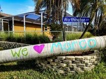 Ouragan Irma Marco Island Photographie stock libre de droits
