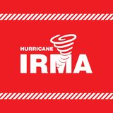 Ouragan Irma Red Safety Poster Illustration Stock