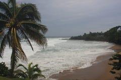 Ouragan Irma Rincon, Porto Rico 2017 de plage de dômes Photos libres de droits