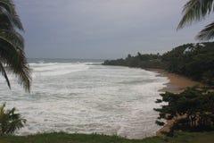 Ouragan Irma Rincon, Porto Rico 2017 de plage de dômes Photographie stock libre de droits