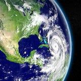 Ouragan Matthew approchant la Floride illustration libre de droits