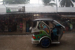 Ouragan Philippines images libres de droits