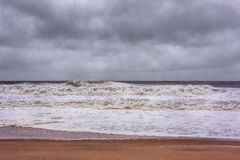 Ouragan Sandy Approaches New Jersey Shore photo stock