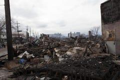 Ouragan Sandy de conséquence Photographie stock