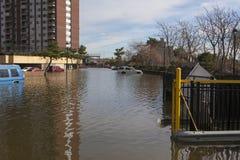 Ouragan Sandy de conséquence image stock