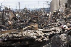 Ouragan Sandy de conséquence Images libres de droits
