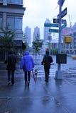Ouragan Sandy à Manhattan Images libres de droits