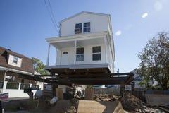 Ouragan Sandy - montagnes de 1 an après Images stock