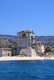 Ouranopoli Tower, Greece near from Holly mountain Athos Royalty Free Stock Photography