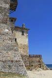 Ouranoupoli城堡 图库摄影