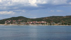 Ouranoupoli on Athos peninsula. stock video