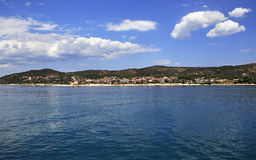 Ouranoupoli on coast of Athos in Greece Stock Photography