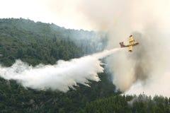 Plan Firefighting royaltyfri foto