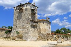 Ouranoupoli Tower Royalty Free Stock Images