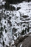 Horsetail falls in Ouray Colorado royalty free stock image