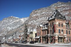 Ouray Main Street photo libre de droits