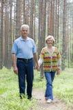 Ourdoors heureux d'aînés ensemble Photographie stock libre de droits