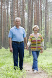 ourdoors szczęśliwi seniory wpólnie Fotografia Royalty Free