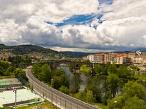 Ourense Roman bridge Royalty Free Stock Image