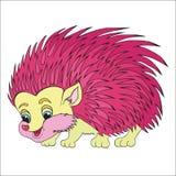 Ouriço cor-de-rosa. O caráter para crianças. Fotos de Stock Royalty Free