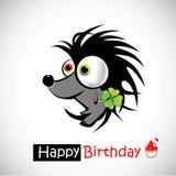 Ouriço do feliz aniversario Imagens de Stock Royalty Free