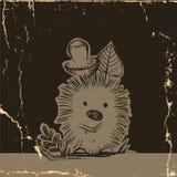 Ouriço dos desenhos animados com cogumelo Fotografia de Stock
