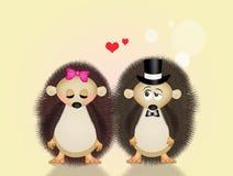 Ouriços no amor Imagens de Stock