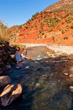 Ourika valley mountain river Stock Photos