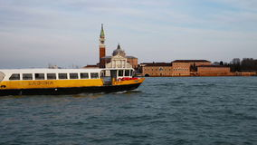 Ouristic boats going down the Grand Channel in Venice stock video footage