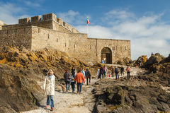 ourists visiting fortifications Stock Image