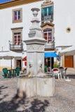 Ourives springbrunn i Capitao Salgueiro Maia Square, royaltyfri fotografi