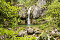 Ourlia waterfalls at Olympus mountain, Greece Stock Photography