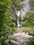 Ourlia waterfalls at Olympus mountain, Greece Royalty Free Stock Images