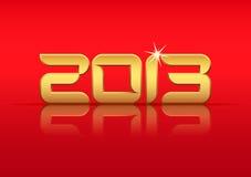 Ouro 2013 anos com reflexão ilustração stock