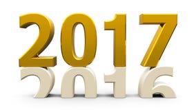 ouro 2016-2017 ilustração stock