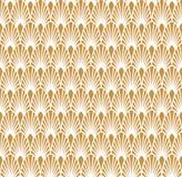 Ouro abstrato Art Deco Seamless Background Teste padrão geométrico da escala de peixes ilustração stock