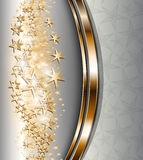 Ouro abstrato do fundo. ilustração do vetor