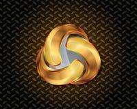 Ouro abstrato Logo Vetora Fotografia de Stock