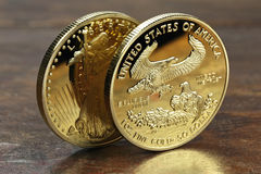Ouro americano Eagle Foto de Stock Royalty Free