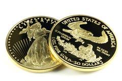 Ouro americano Eagle Imagem de Stock Royalty Free