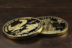 Ouro americano Eagle Fotografia de Stock