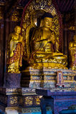 Ouro Buddha Foto de Stock Royalty Free