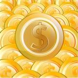 Ouro Coin08 ilustração do vetor